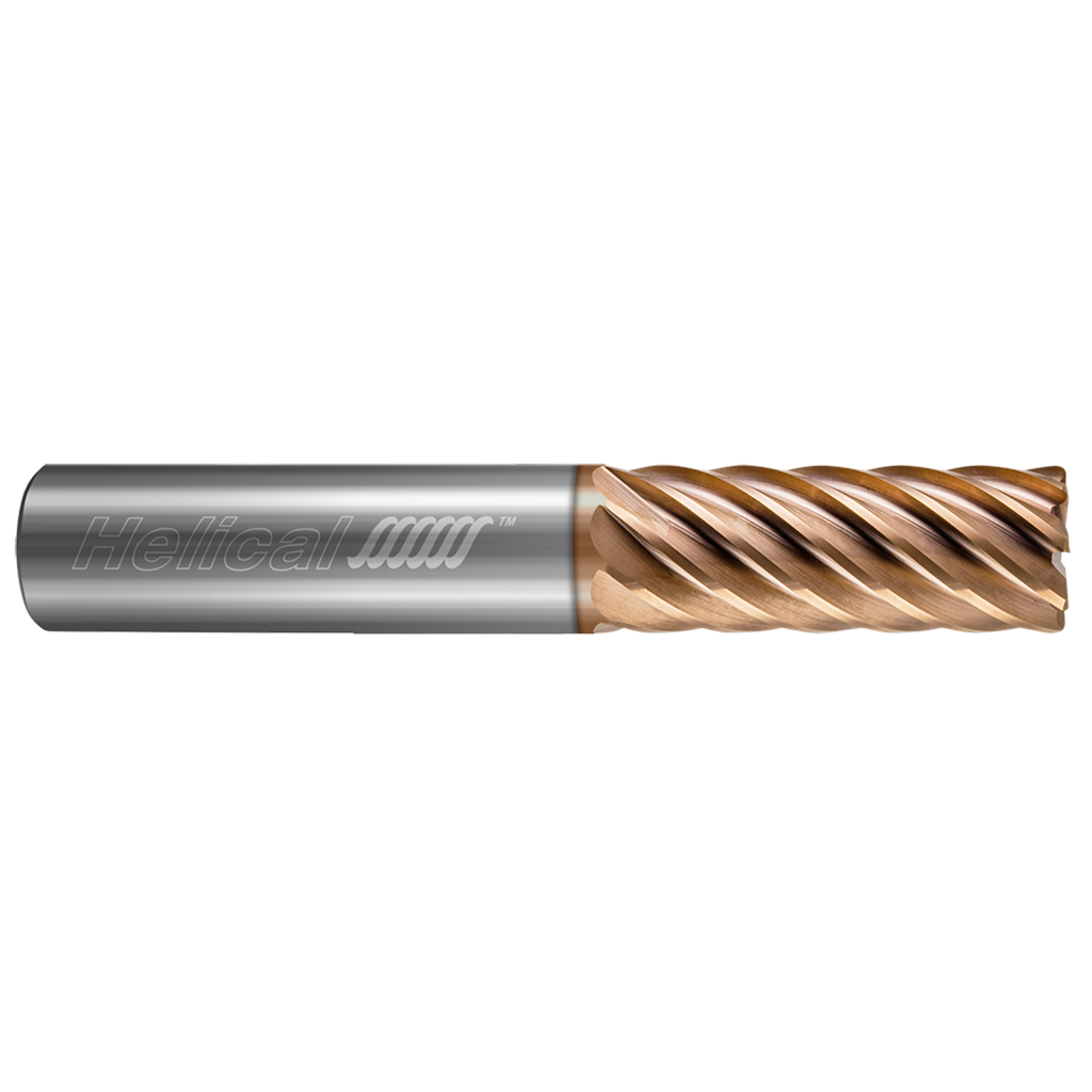 1 3//4 Mill Diameter 1 1//2 Shank Diameter Premium Cobalt Steel 8 Number of Flutes 4 1//2 Flute Length 7 3//8 Overall Length Non Center Cutting F/&D Tool Company 19337 Multiple Flute Single End Straight Shank Roughing Endmill